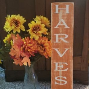 🍁NEW Rustic 2' HARVEST Fall Sign Decor🍁